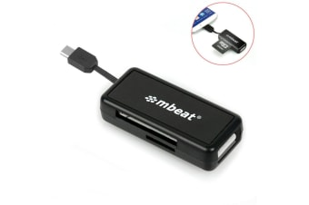Micro USB Card Reader and Hub for Android Smartphone/Tablet Samsung/Sony/HTC