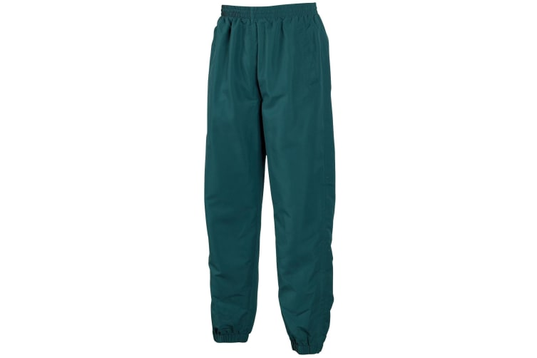 Tombo Teamsport Mens Sports Lined Tracksuit Bottoms / Jog Pants (Dark Green) (S)