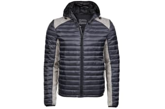 Tee Jays Mens Aspen Crossover Jacket (Cosmic Grey/Grey Melange) (XL)