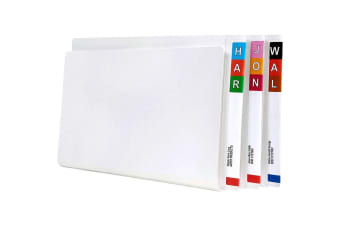 AVERY 46510 LATERAL FILE WITH TUBECLIP FOOLSCAP WHITE BOX 100
