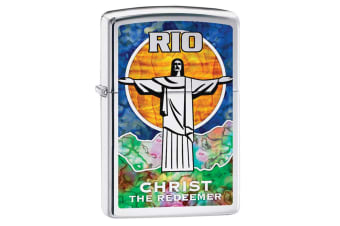 Zippo Christ the Redeemer Genuine Chrome Fusion Finish Cigar Cigarette Lighter