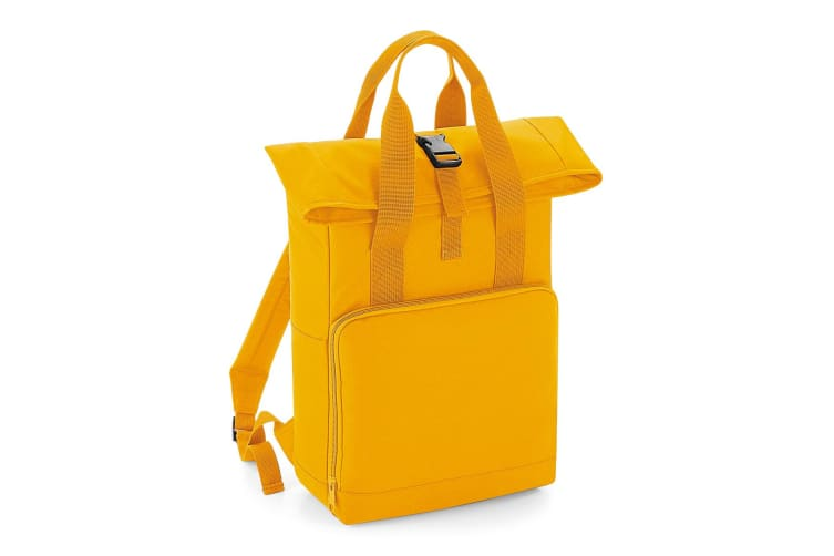 BagBase Twin Handle Roll-Top Backpack (Mustard) (One Size)