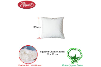 Easyrest Duck Feather Fill Cushion Inserter Square 35 x 35cm 420 grams fill