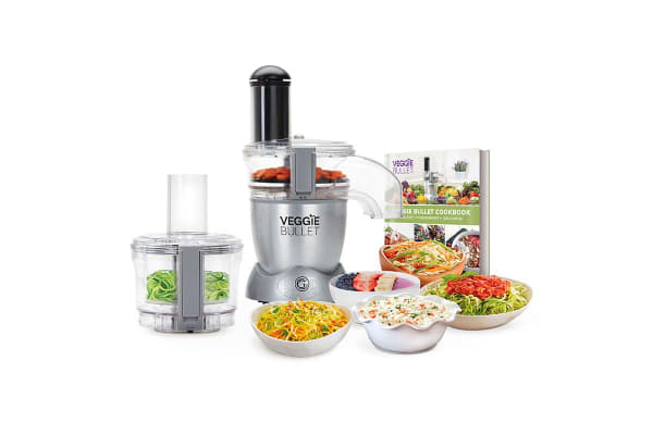 NutriBullet Veggie Bullet 12 Piece Set Food Processor & Spiralyser (VBR-1007)