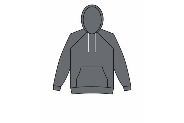 American Apparel Unisex Salt & Pepper Hooded Sweatshirt (Peppered Grey) (XL)