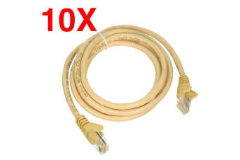 10PK Belkin 2m CAT5e Patch Cable Network Ethernet Internet for PC MAC Router