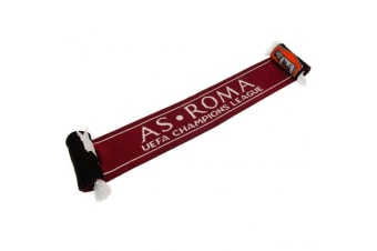AS Roma Champions League Scarf (Red/Black/White)