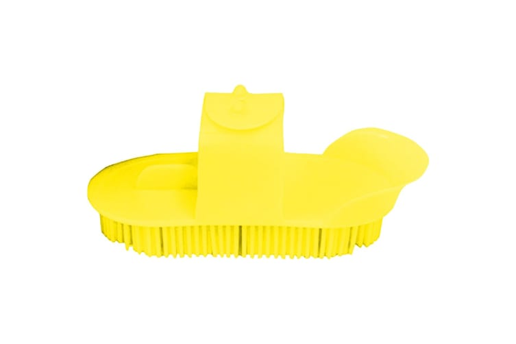 Lincoln Plastic Curry Comb (Yellow) (L)