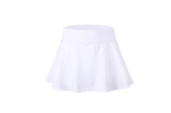 Women'S Pleated Elastic Quick-Drying Tennis Skirt With Shorts Running Skort - White White S