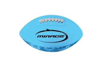 Mirage Neoprene Rugby Ball Large Blue