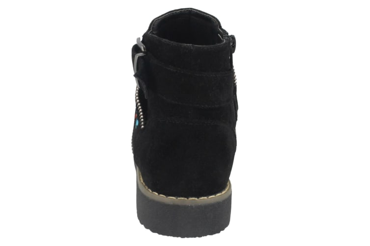 Spot On Girls Suede Ankle Boots (Black) (UK Child 13)