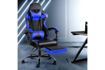 Artiss Gaming Office Chair Computer Desk Chairs Seat Racing Recliner Racer Blue