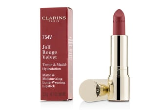 Clarins Joli Rouge Velvet (Matte & Moisturizing Long Wearing Lipstick) - # 754V Deep Red 3.5g/0.1oz