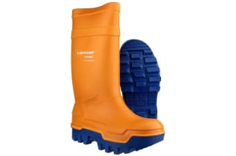 Dunlop C662343 Purofort Thermo + Full Safety Wellington / Mens Boots / Safety Wellingtons (Orange)