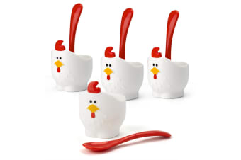 Joie Msc Doodle Doo Egg Cups And Spoons - Set Of 4
