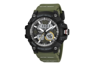 Sports Watch Multifunctional Men'S Waterproof Electronic Watches Green