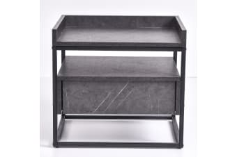 Magino Bedside Table - Grey Stone