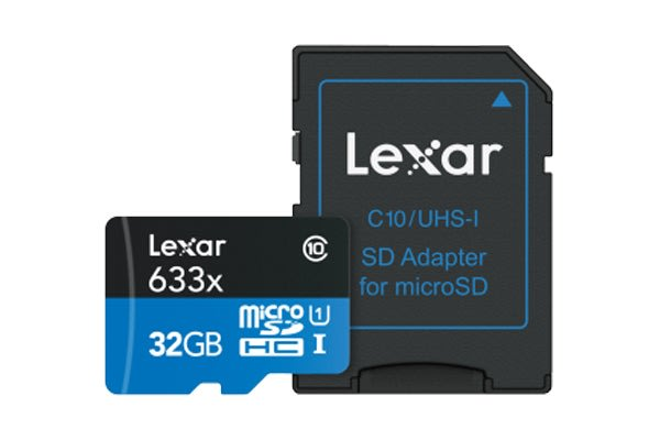 Lexar 32GB High-Performance Micro SDHC/MicroSDXC UHS-I Card (633x)