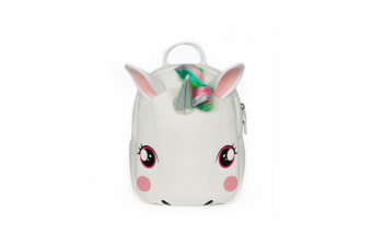 Cute Unicorn Backpack Children'S Diving Cloth Shoulder Pack - White White