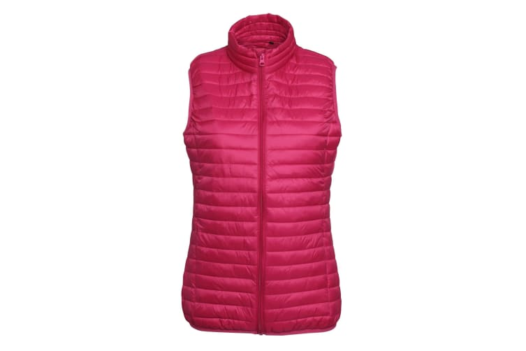 2786 Womens/Ladies Tribe Fineline Padded Gilet/Bodywarmer (Hot Pink) (XL)