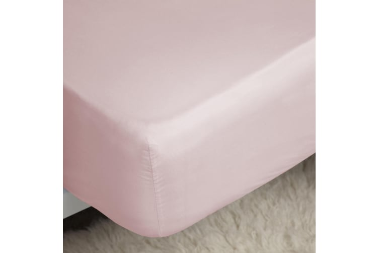 Belledorm 400 Thread Count Egyptian Cotton Fitted Sheet (Blush) (Double)