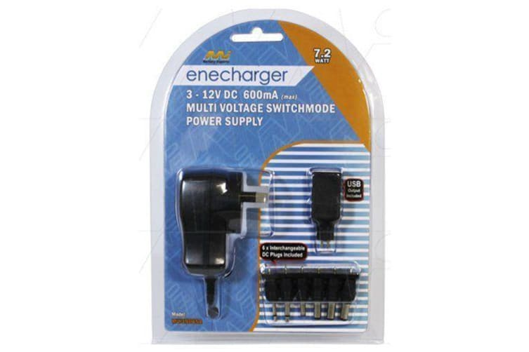 Enecharger 7.2W 600mA Switchmode Power Supply 100-240VAC Input to Output DC