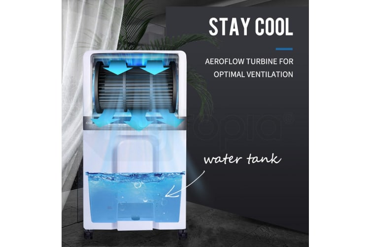 CARSON 3in1 Evaporative Air Cooler Portable Fan Humidifier Cooling Conditioner