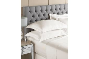Riva Home Egyptian 400 Thread Count Fitted Sheet (Ivory) (Double)