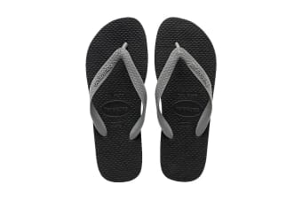 Havaianas Color Mix Thongs (Black/Steel Grey, Size 41/42 BR)