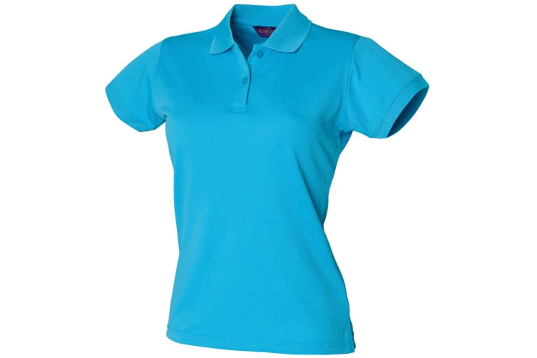 Henbury Womens/Ladies Coolplus® Fitted Polo Shirt (Turquoise) (L)