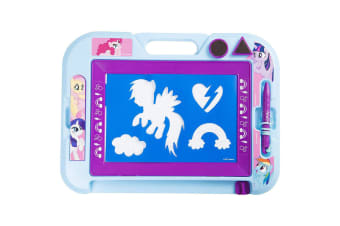 My Little Pony Magnetic Scribbler Doodle Drawing Board w/ Stamps f/ Kids 3y+