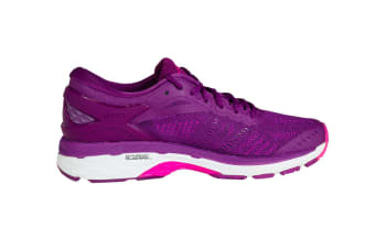 ASICS Women's Gel-Kayano 24 Running Shoe (Prune/Pink Glow/White)