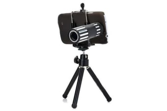 12X Tele Photo Camera Magnification Lens + Tripod Samsung Galaxy S4 Telephoto
