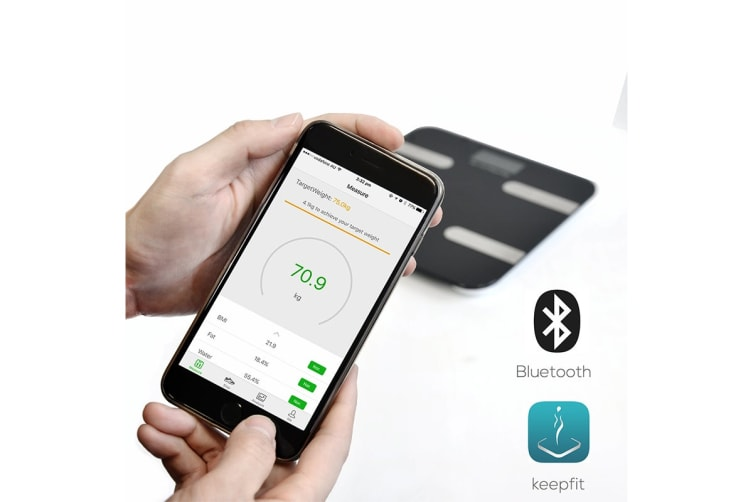 """mBeat """"actiVIVA"""" Bluetooth BMI and Body Fat Smart Scale with Smartphone APP"""