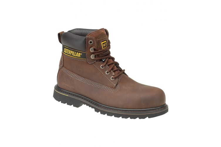 Caterpillar Holton SB Safety Boot / Mens Boots / Boots Safety (Brown) (9 UK)