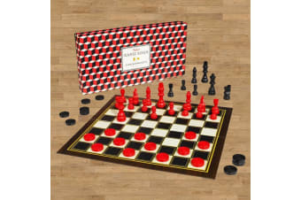 2-In-1 Chess and Checkers Set Ridley's Board Game Strategy Family Fun