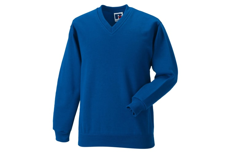 Russell Workwear V-Neck Sweatshirt Top (Bright Royal) (XS)