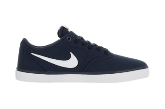 Nike Men's SB Check Solar Canvas Shoe (Midnight Navy/White, Size 8)