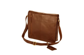 Eastern Counties Leather Wide Messenger Bag (Tan)