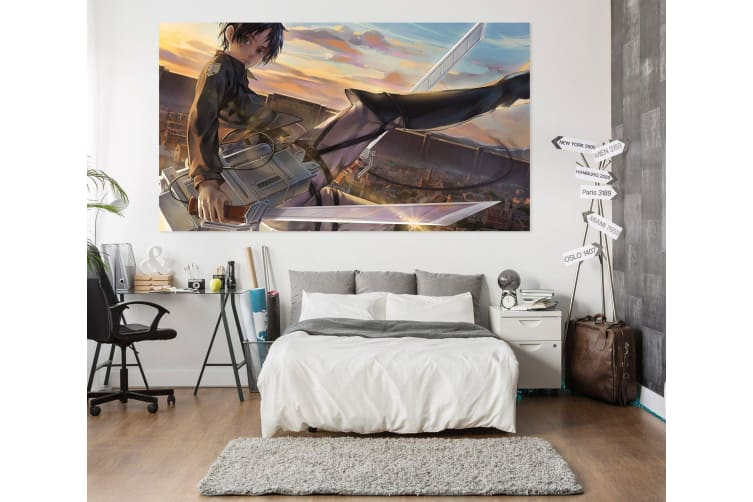 3D Attack On Titan 910 Anime Wall Stickers Self-adhesive Vinyl, 80cm x 80cm(31.5'' x 31.5'') (WxH)