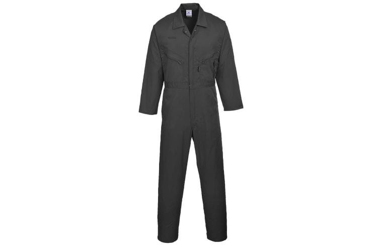 Portwest Mens Liverpool-zip Workwear Coverall (Pack of 2) (Black) (3XL x Regular)