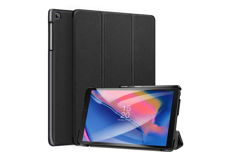 Samsung Galaxy Tab Case Cover SMART Ultra Slim Stand Cover for Tab A 8.0 2019 P200-Black