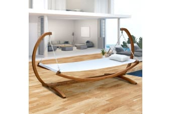 Wooden Swinging Bed Outdoor Furniture Timber Hammock Bed Chair