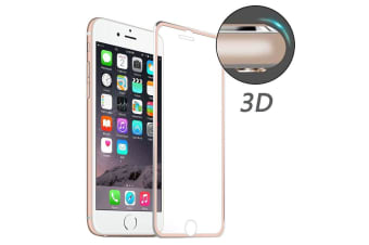 For iPhone 8 7 Screen Protector High-Quality 3D Tempered Glass Cover Rose Gold