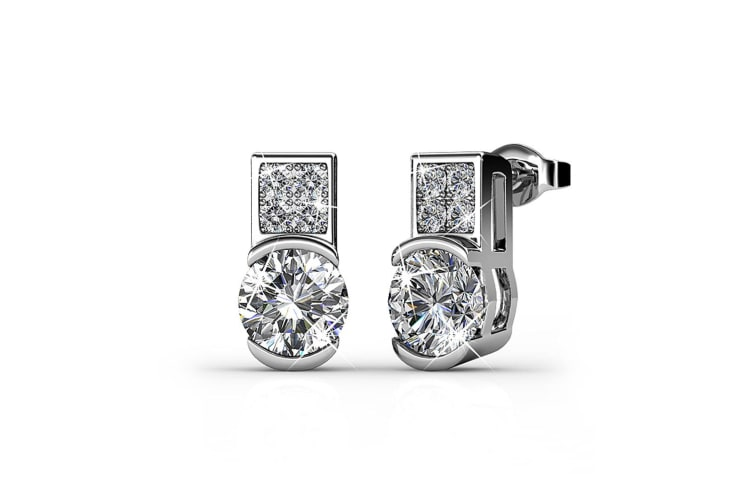 Intricate Glam Drop Earrings Embellished with Swarovski crystals