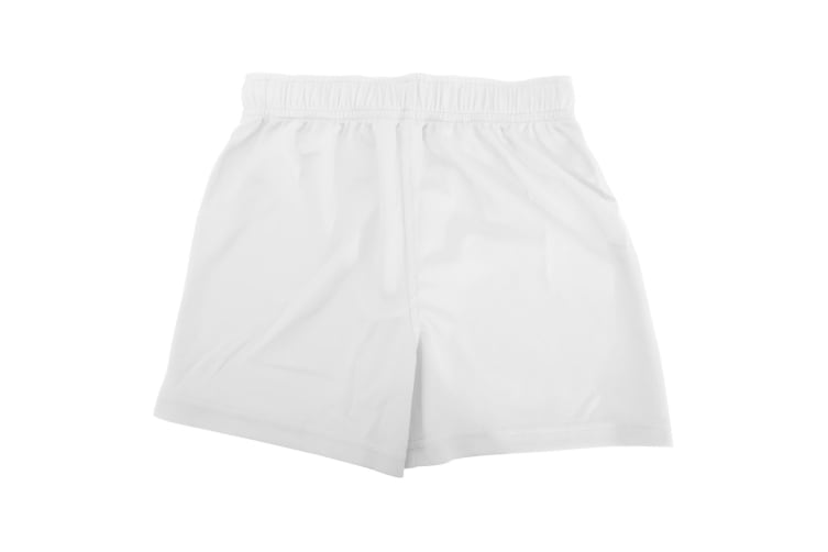Fruit Of The Loom Childrens/Kids Moisture Wicking Performance Sport Shorts (White) (7-8 Years)