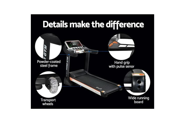 Everfit Electric Treadmill Home Gym Fitness Exercise Machine 45cm Belt 18 Speed