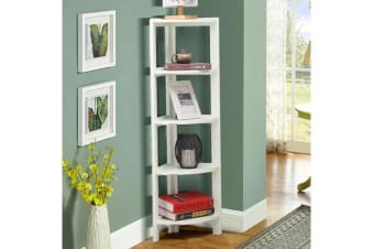 5-Tier Corner Bookshelf Storage Cabinet