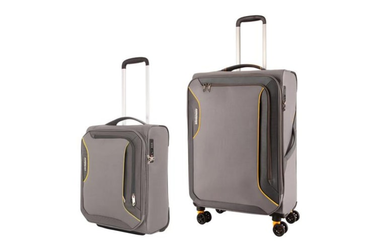 American Tourister Applite 3 Spinner 2 Piece TSA Luggage Set (Lightning Grey)