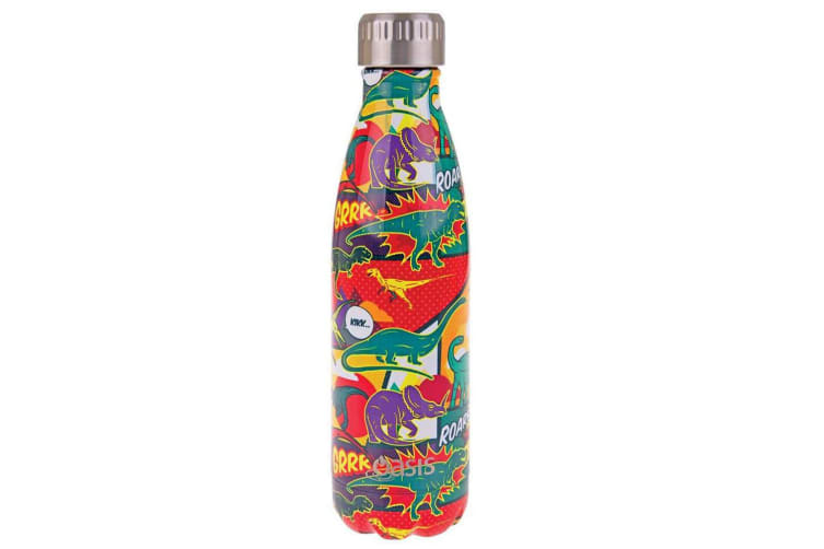Oasis 500ml Stainless Steel Double Wall Insulated Water Drink Bottle Dinosaurs